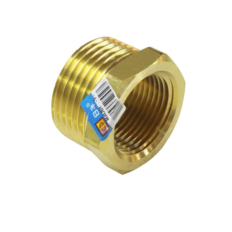 Kingbull Brass Reduction Nipple Union Fittings Reducing Bushing Pipe Fitting 1'MALE x 3/4'FEMALE Rifeng