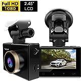 "Nicam 1080P Dash Cam Car Camera - 2.45"" LCD Screen FHD Car Dash Cam with Sony Image Sensor, Super HD Night Vision Car DVR, 170 Degree Wide-Angle WDR Lens, WiFi,HDR, G-Sensor, Loop Recording,"