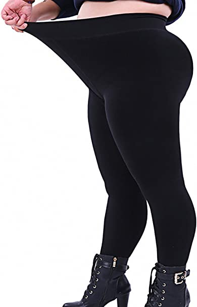 Women Winter Black Thick Warm Soft Fleece Lined Thermal Stretchy Leggings 6-18