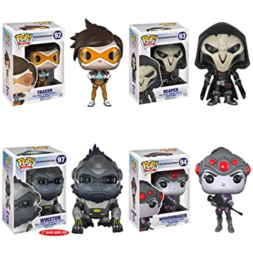 Overwatch Tracer, Reaper, WidowMaker, Winston 6-Inch Pop! Vinyl Figures Set