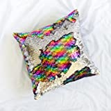 """Amazon Price History for:16""""x16"""" with INSERT Mermaid Sequin Pillow with Color Changing, Reversible Flip Sequins. Perfect Throw Pillow for Home Decor and Holiday Gifts- Rainbow Silver"""