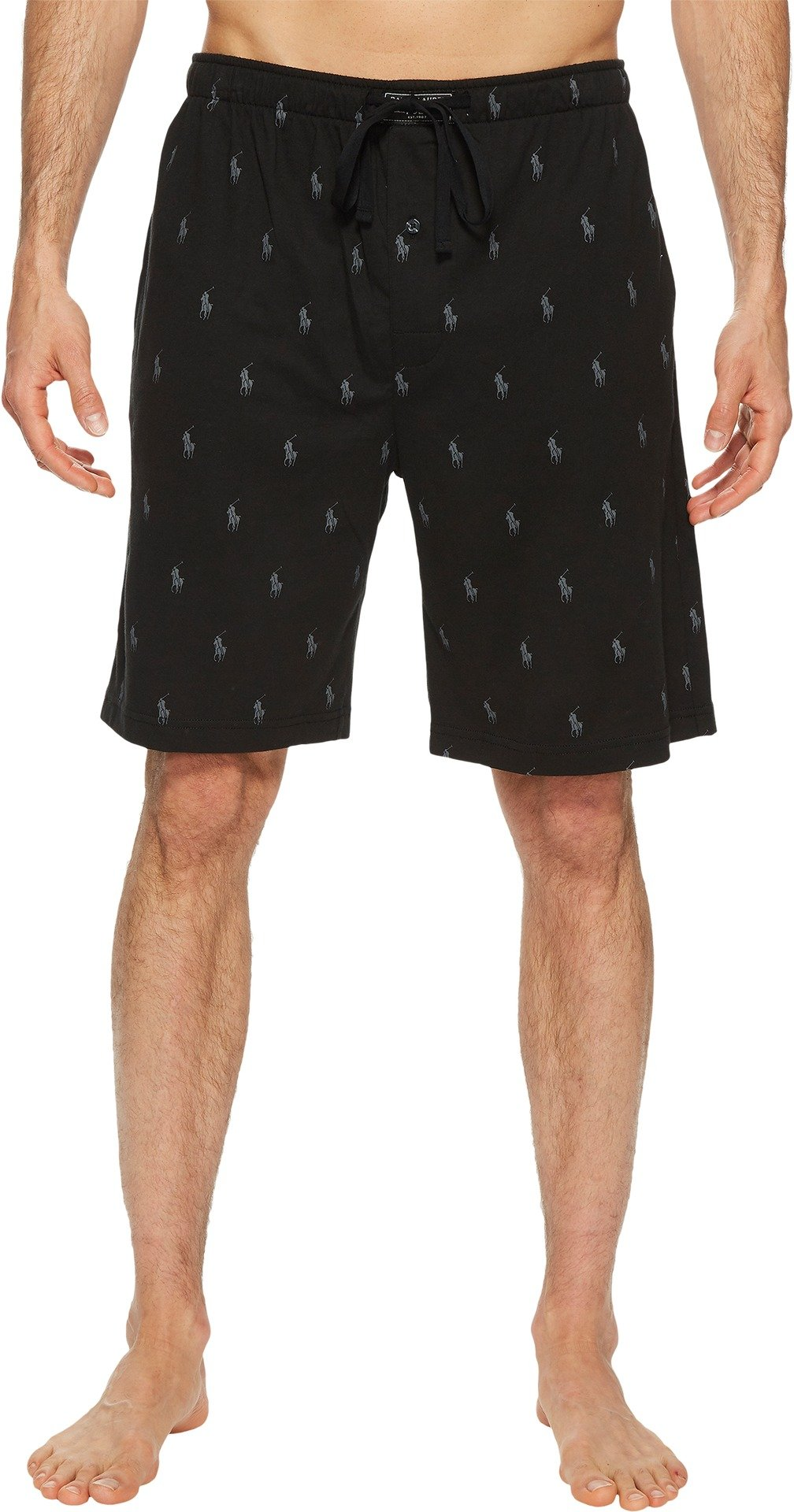 Polo Ralph Lauren Knit Sleep Shorts, L, Polo Black