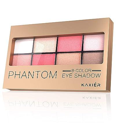 Paleta de sombras de ojos 8 colores Mate y Brillo Multicolor Paletas de sombras de ojos Polvo de larga duración Maquillaje Herramienta cosmética ...