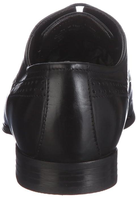 Bugatti U18011, Herren Derby Schnürhalbschuhe, Schwarz (schwarz 100), 47 EU