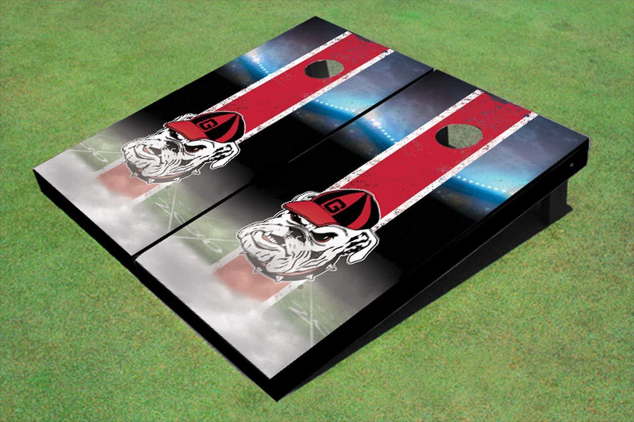 Skip's Garage Georgia Bulldogs スタジアムフィールドコーンホールボード - サイズとアクセサリーをお選びください - ボード2枚、バッグ8枚など  G. 2x4 Boards - Team Bags (Corn)