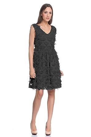 Fringed Fabric Dress Sleeveless Winter Collection Women At Amazon
