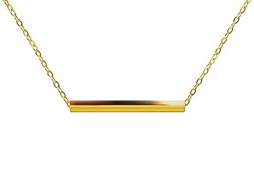8377a7ff16fa8 KristLand - Women 18k Rose Gold Color Plated Bar Pendant Necklace Choker  Simple Design