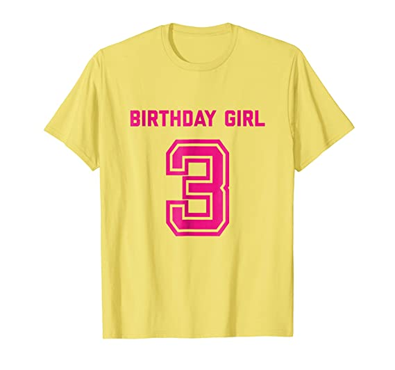 Mens 3rd Birthday Shirt Gift Age 3 Year Old Girl Tshirt Girls Tee 2XL Lemon