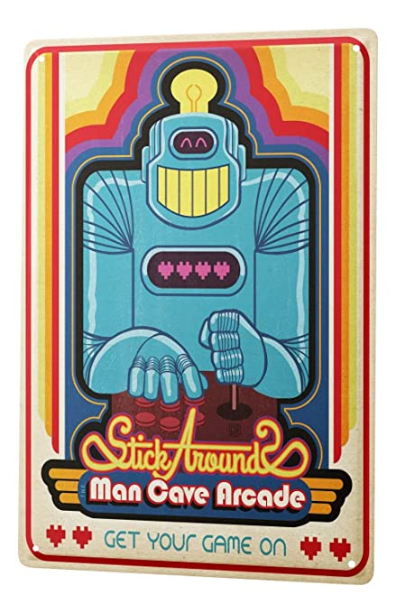Retro Tin Sign Playing Card Man Cave Arcade Game 8X12