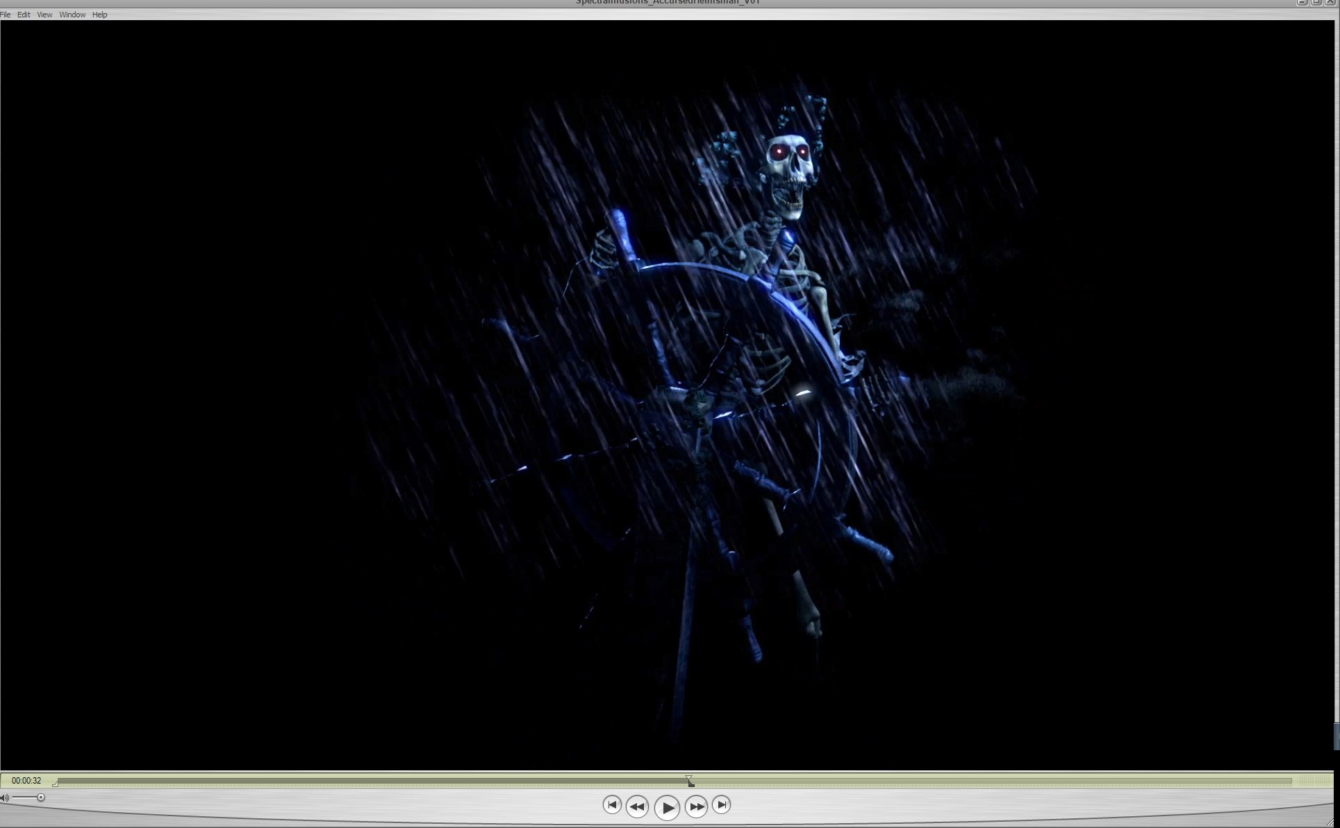 Spectral Illusions Ghosts & Spirits Compilation Video Projector Kit on USB with Reaper Brothers Rear Projection Screen.