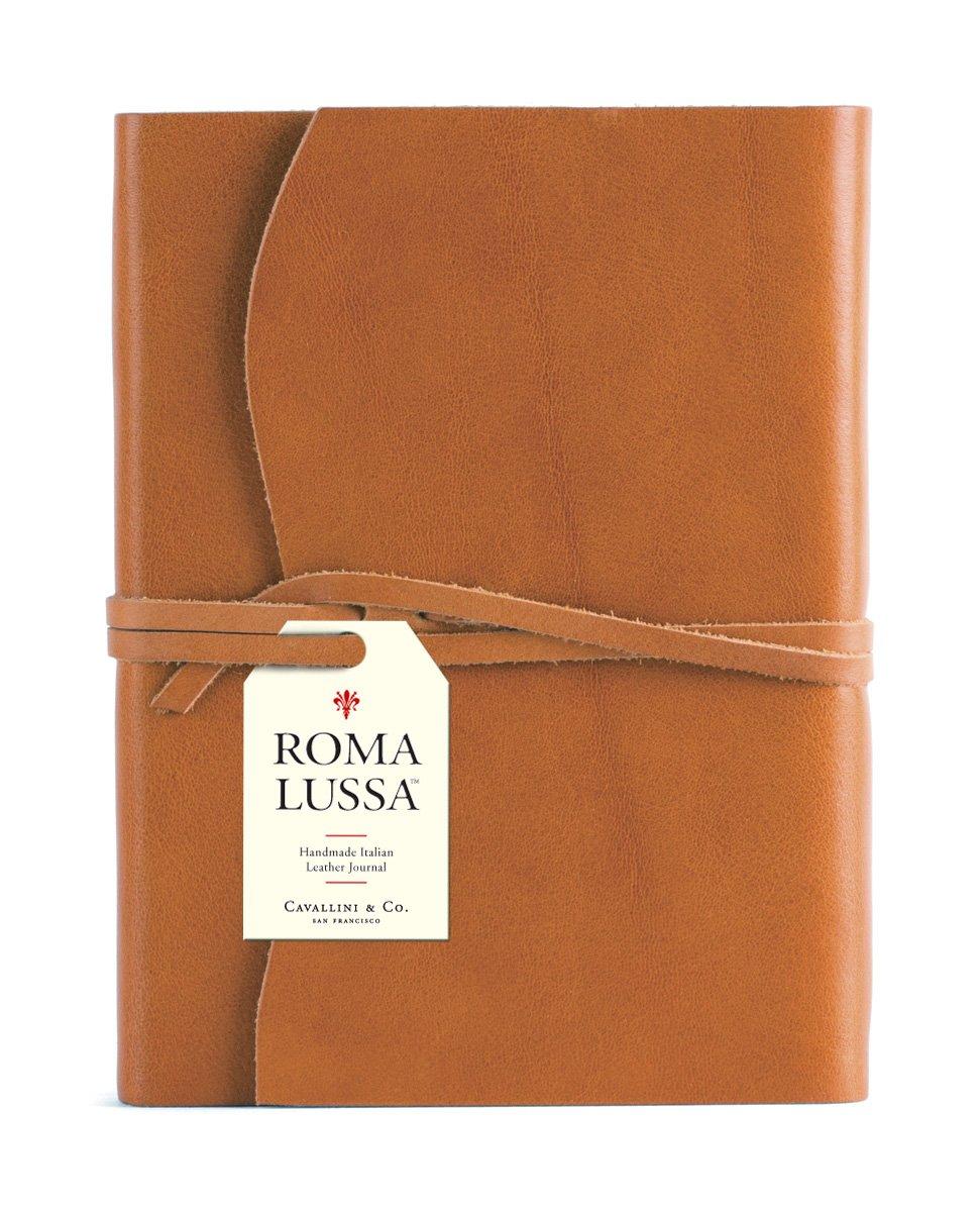 Cavallini & Co. Roma Lussa Leather Journal Tan