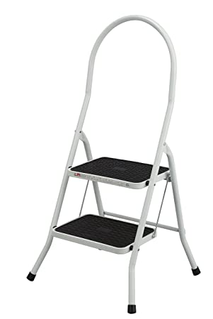 Admirable Abru 2 Step Highback Stepstool Heavy Duty 150Kg Load Capacity En14183 Certification 5 Year Guarantee White Bralicious Painted Fabric Chair Ideas Braliciousco