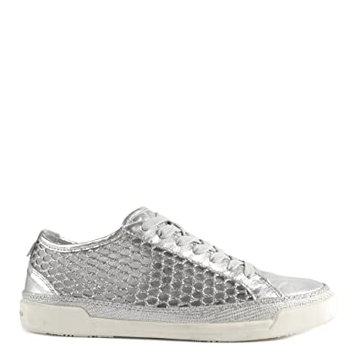 a65fe401dcef7a CRIME London Haz Schuhe Sneaker Silber Damen 40 Grau  Amazon.de ...