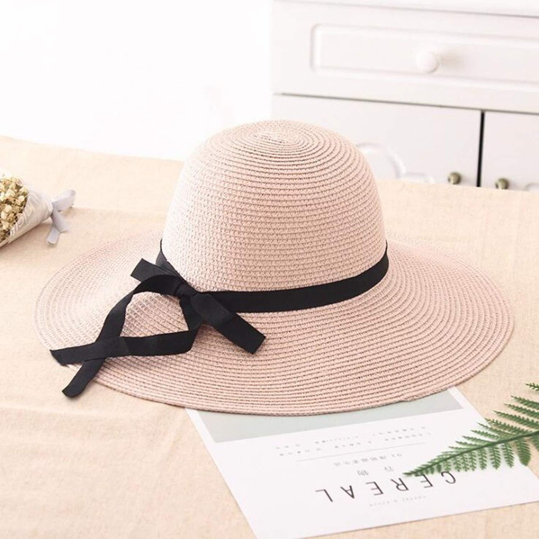 New 2019 Summer Straw Women Big Wide Brim Beach Caps Sun Foldable Block Uv Protection Panama Hats Bone Chapeu