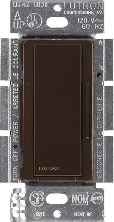 Lutron MSCELV-600M-MN Maestro 600-watt Electronic Low Voltage Multi-Location Digital Dimmer, Midnight - Wall Dimmer Switches - Amazon.com