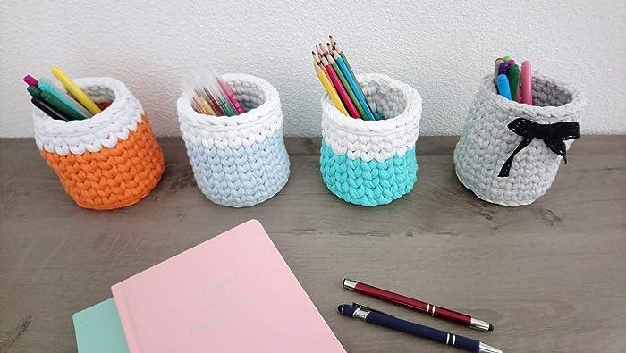 Pots à crayons pinceau à maquillage rangements textiles pour