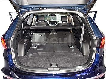 vesul black tonneau cover rear trunk cargo luggage security shade compatible with 2016 2017 2018 hyundai santa fe sport Hyundai Santa Fe Sport Mineral Gray