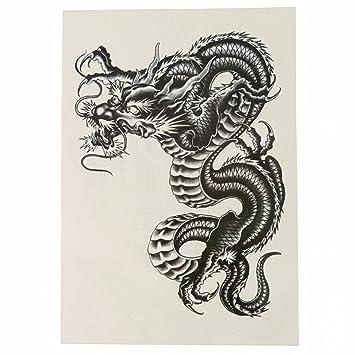 rosenice Tatuajes temporales Dragón Arm Tattoo grandes negras ...