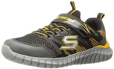 Skechers Kids Boys' Spektrix Sneaker, Gunmetal/Black, 1 M US Little Kid