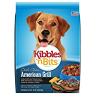 Kibbles 'N Bits American Grill Grilled Usa Beef Steak Flavor Dry Dog Food, 3.5 Pounds (Pack Of 6)