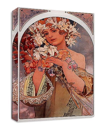 Amazon.com Flowers (A Mucha) Art Nouveau Poster Streched