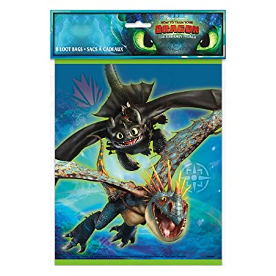 Unique How to Train Your Dragon Party Loot Bags, 1 Pack: Toys & Games