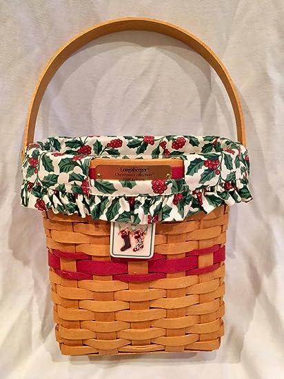 Longaberger Christmas Basket.Amazon Com 1998 Edition Longaberger Christmas Basket With