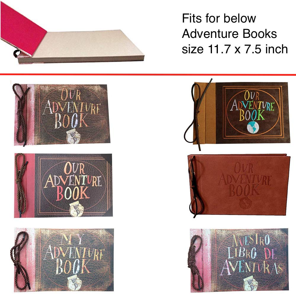 20 Sheets Standard Kraft Paper Refill Pages for 11.6 x 7.5 LINKEDWIN Adventure Book 40 Pages