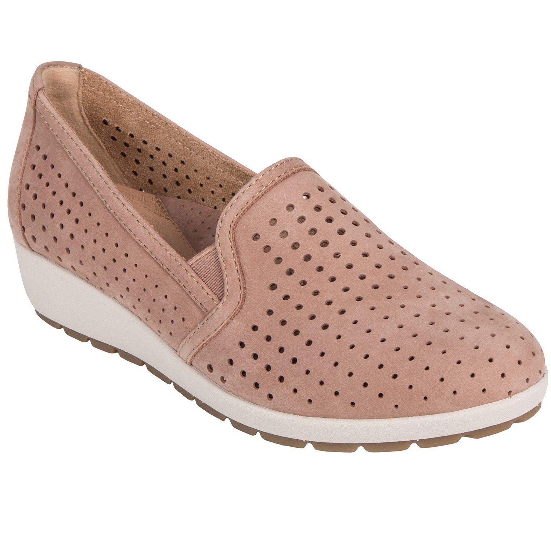 Earth Juniper - Womens Slip-On Wedge Summer Shoe Dark Blush - 6 Medium