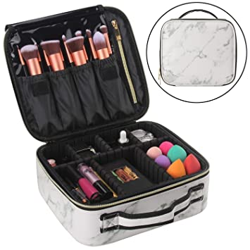 2d887d6c81db Relavel Makeup Case Travel Makeup Bag Makeup Train Case Cosmetic Bag  Toiletry Makeup Brushes...