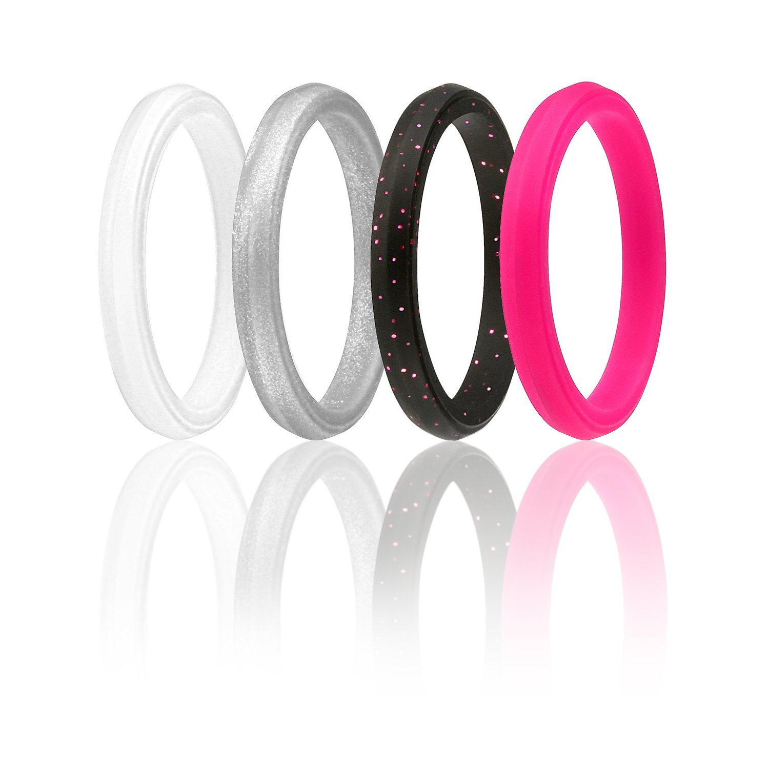 Amazoncom Silicone Wedding Ring for Men 3 Rings Pack by