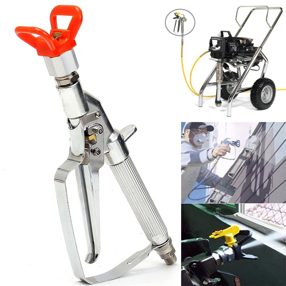 Airless Paint Sprayer Spray Gun with Tip and Nozzle Base Home Improvement Straight Injection High Pressure 3600 PSI With Swivel Joint for Car Washing, Plant Watering, Room etc by Yvonne (Image #6)