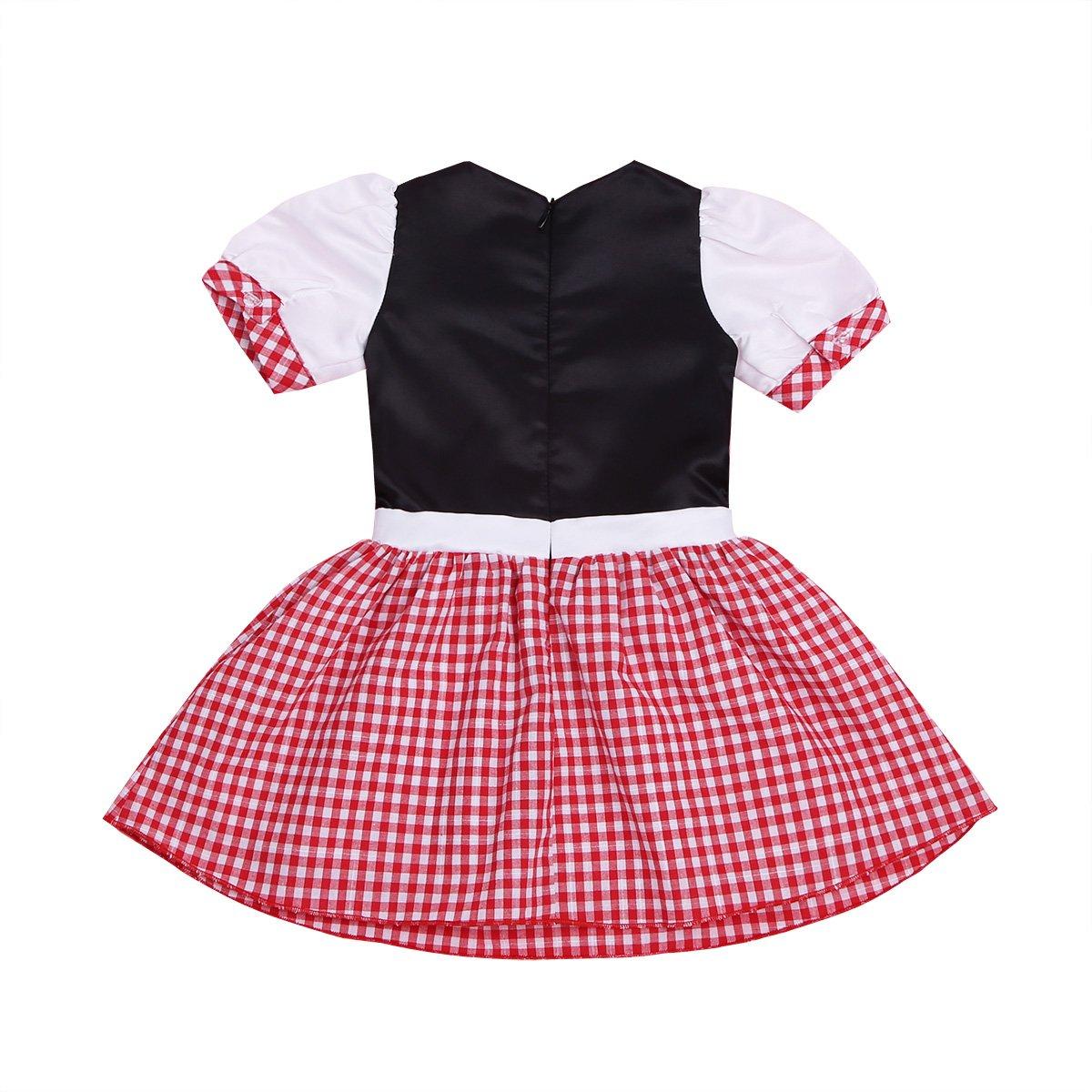 iiniim Baby Girls Halloween Party Costumes Short Sleeves Dress with Hooded Cloak (18-24 Months) by iiniim (Image #5)