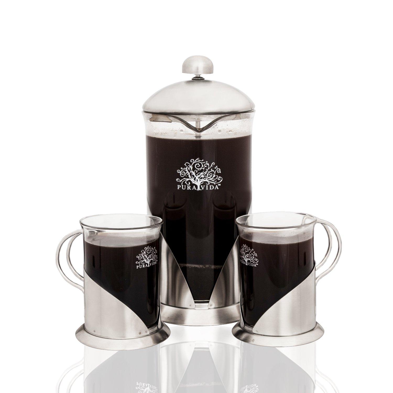 French Press Coffee, Tea & Espresso Maker By Pura Vida