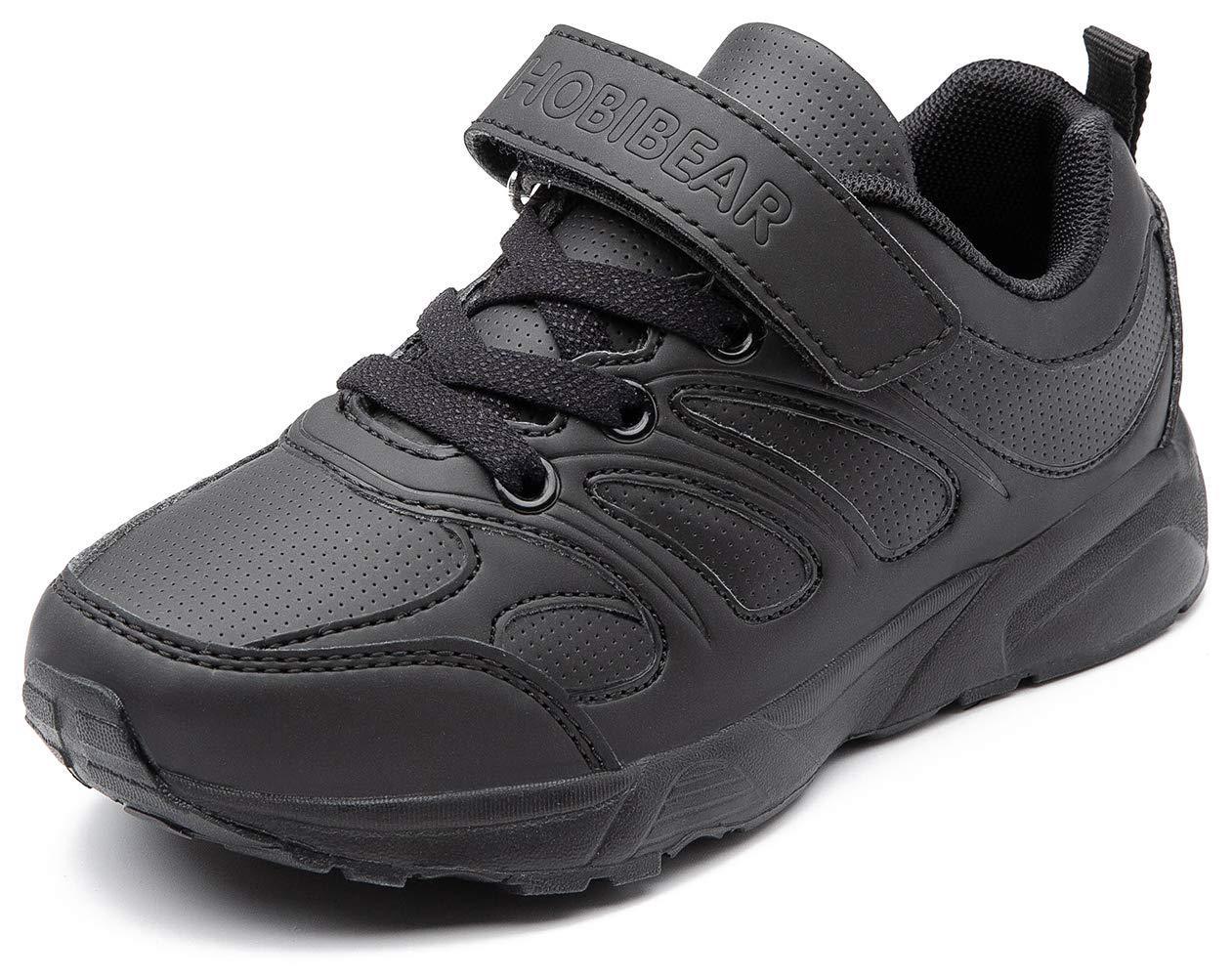 GUBARUN Sneakers for Boys and Girls, Kids Running Lightweight Shoes - Athletic Tennis Shoe Comfort-12.5M,Black