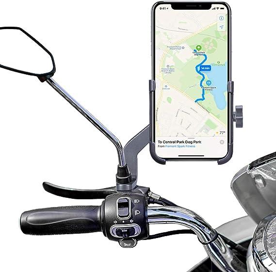 Homeet - Soporte Universal de móvil para Motocicleta, Espejo ...