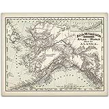 1892 Alaska Map - 11x14 Unframed Art Print - Great Vintage Home Decor and Gift Under $15