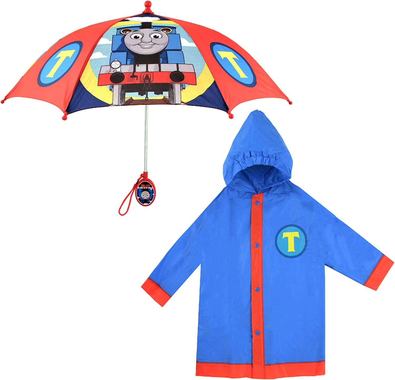 Mattel Kids Umbrella and Slicker, Thomas and Friends Rainwear Set for Boy's Ages...