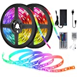 LED Strip Lights for Bedroom,32.8ft with 300 LED Lights,SAUDIO Flexible Color Changing 5050 RGB LED Tape Lights with 44…