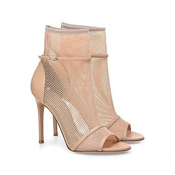 481b42ca6ede32 GONGFF Damen Nackt Schwarz High Heel Sandaletten Tennisschuhe Große  Stiefeletten Mode Damenschuhe
