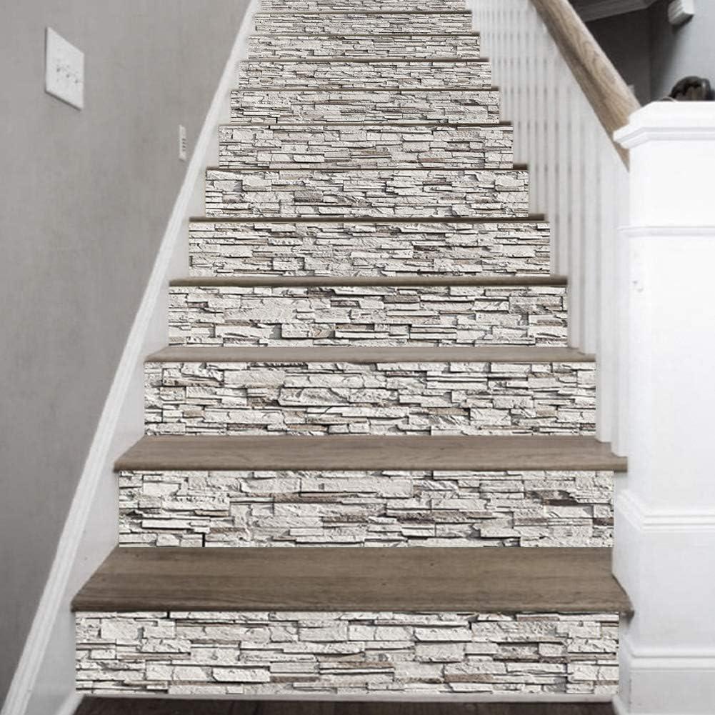 Oumefar Simulation Rock Motif Autocollant Mural Auto-adh/ésif Papier Peint PVC escalier d/écoratif Autocollants Sticker Mural pour la d/écoration de la Maison