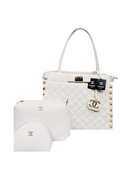 1104e9ffa85 Chanel Stylish White Handbag combo Offer set of 3 Handbags for women and  girls: Amazon.in: Shoes & Handbags