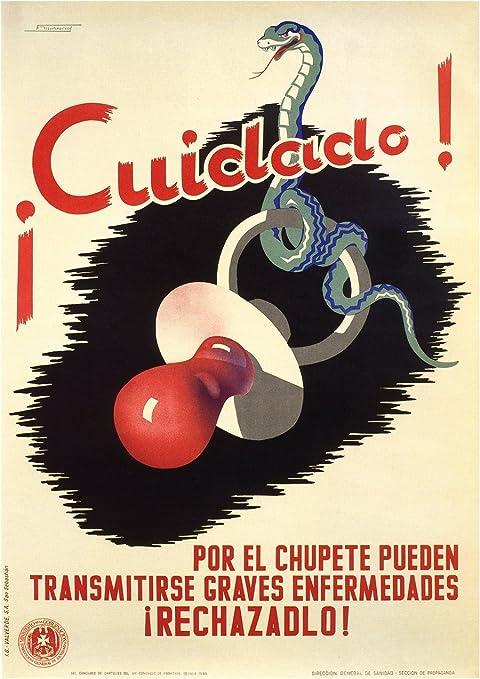 La Guerra Civil Española 1936-39 Propaganda ocuparme de los chupetes 250gsm ART tarjeta polarmk A3 Póster: Amazon.es: Hogar
