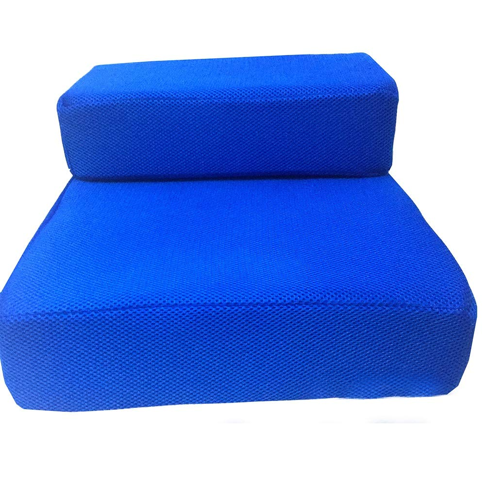bluee Dog Stairs Cat Steps 2 Step Dog Stairs for Bed, Small Cat Steps for Sofa, Medium Pet Stair Ladder, Maximum Load  10 Kg (color   bluee)