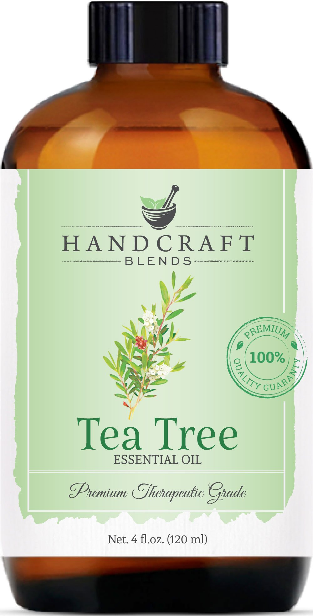 Handcraft Tea Tree Essential Oil - Huge 4 OZ - 100% Pure & Natural – Premium Therapeutic Grade with Premium Glass Dropper by Handcraft Blends (Image #1)