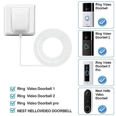 Nest Doorbell Transformer 18V AC 500mA Power Supply Adapter US Plug For Ring Video Doorbell,Video Doorbell 2,Video Doorbell Pro