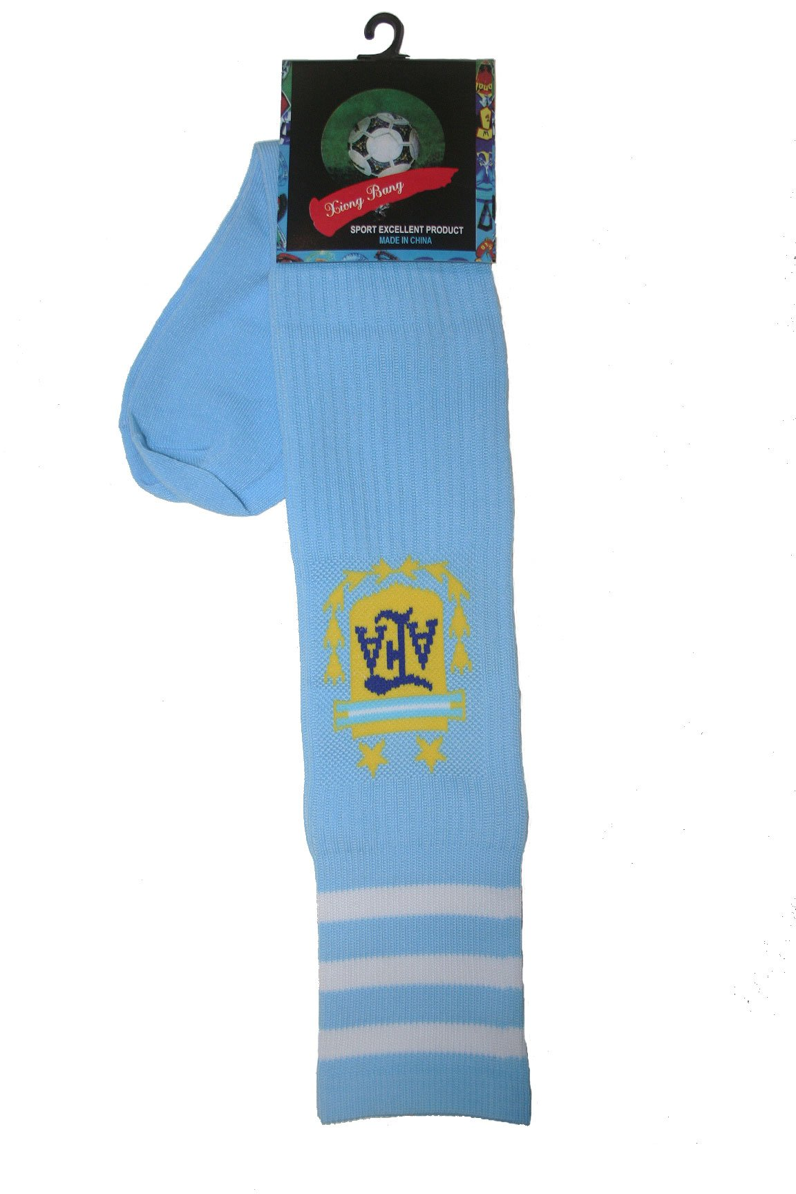 Argentina Blue AFA Logo Soccer World Cup Socks .. Adult Size .. New