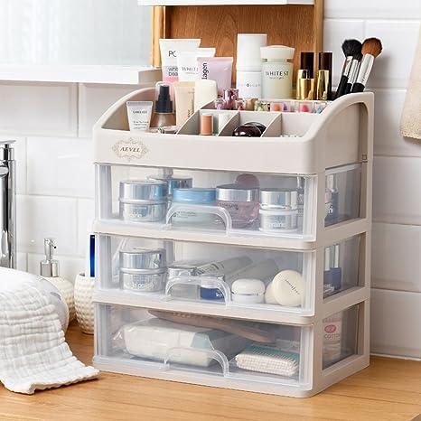 Caja de almacenamiento organizadora de maquillaje, con varios cajones, para cuarto de bañ