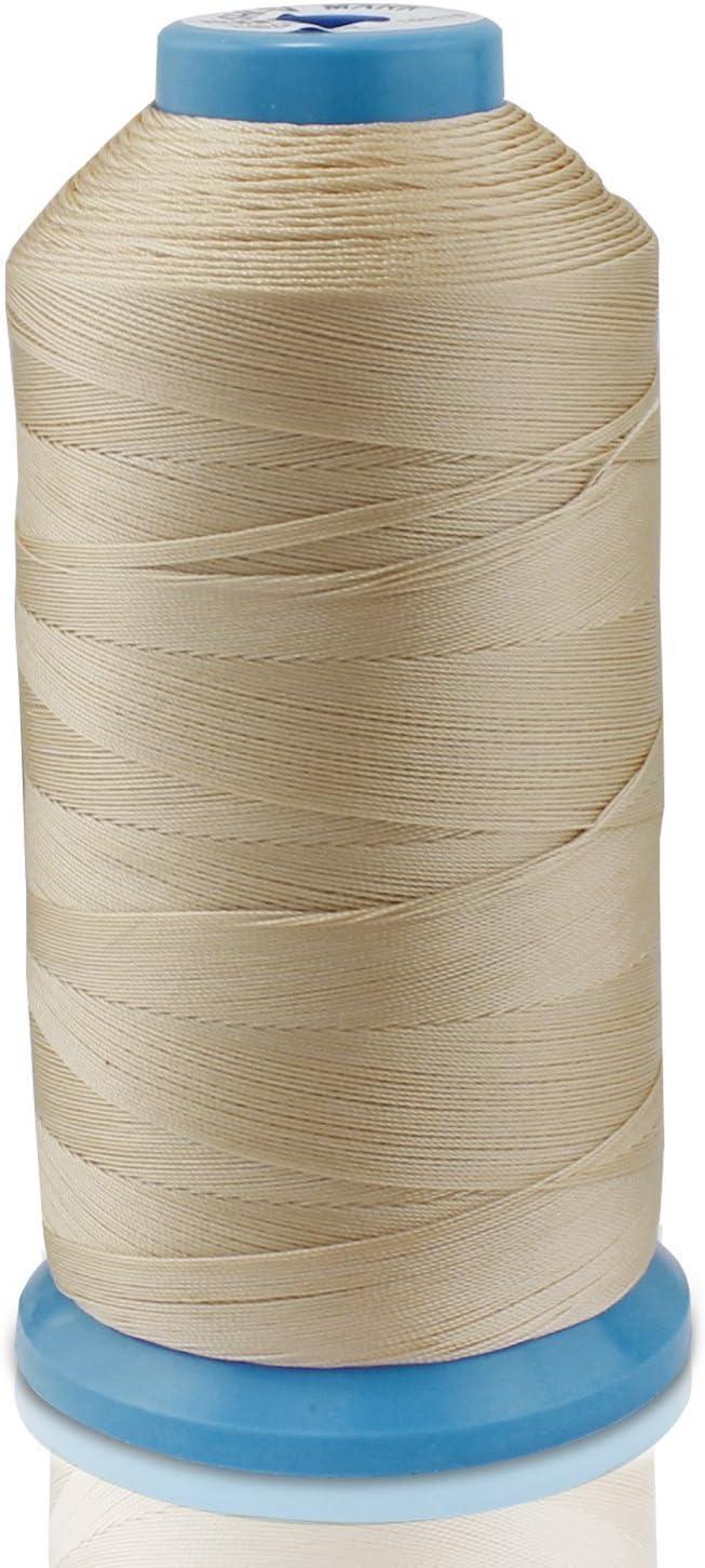 WheateFull Tight Strong Bonded Nylon hilo de coser para exteriores, cuero asientos, bolsas, zapatos, lona, tapicería y máquina de coser costura a mano