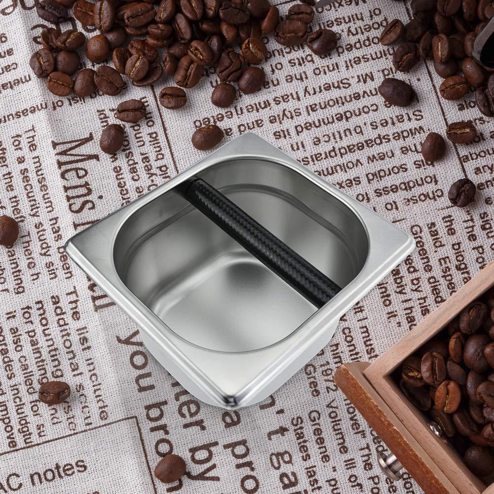 spresso Knock Box Barista Style Sturdy Shock-Absorbent Knockbox Coffee Knock Box